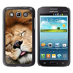 iBinBang / Funda Carcasa Cover Skin Case - León divertido Dormir Cansado soñoliento lindo - Samsung Galaxy Win I8550 I8552 Grand Quattro