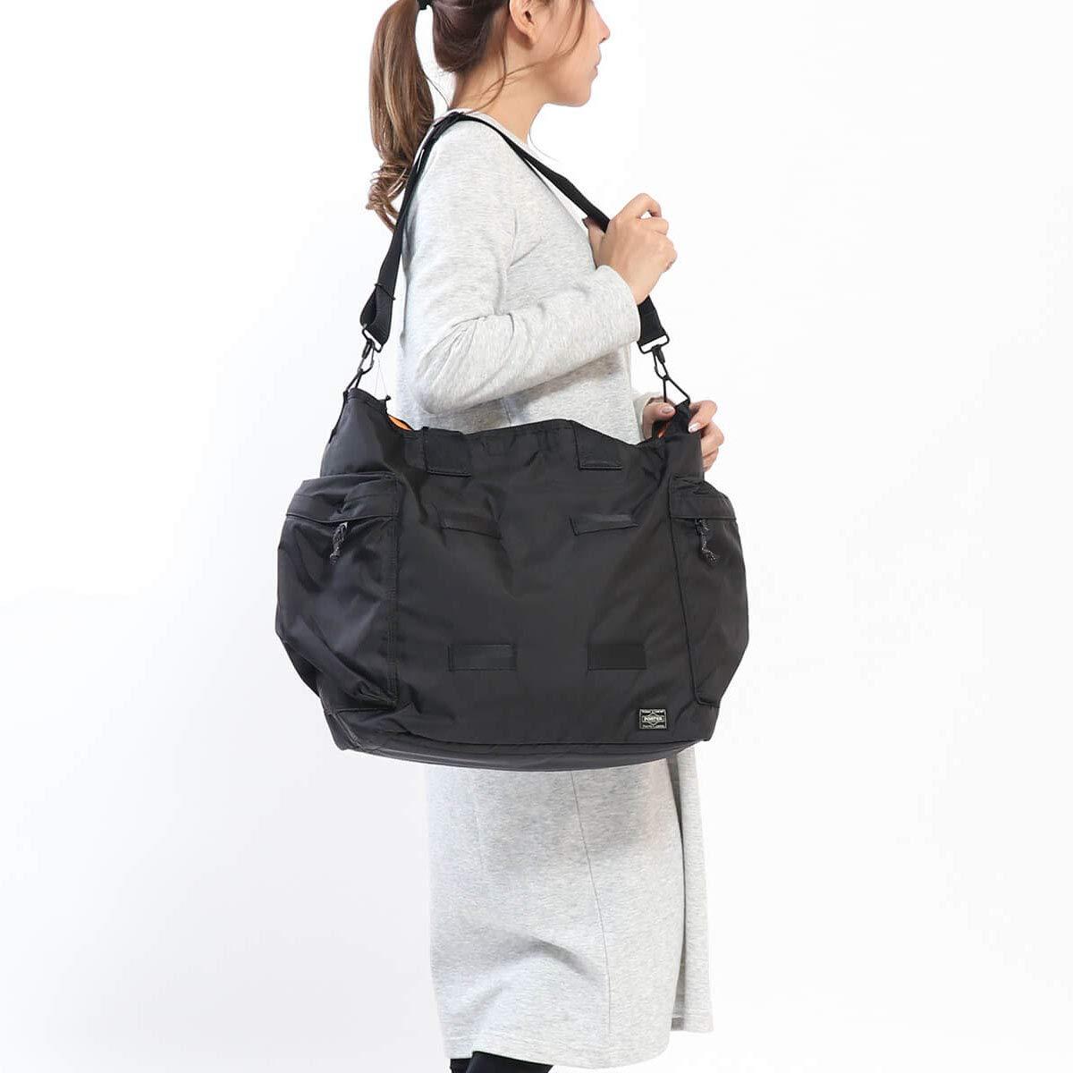 cdea7d118f8d Amazon | ポーター(porter)・フォース・2WAYトートバッグ (ブラック) | トートバッグ