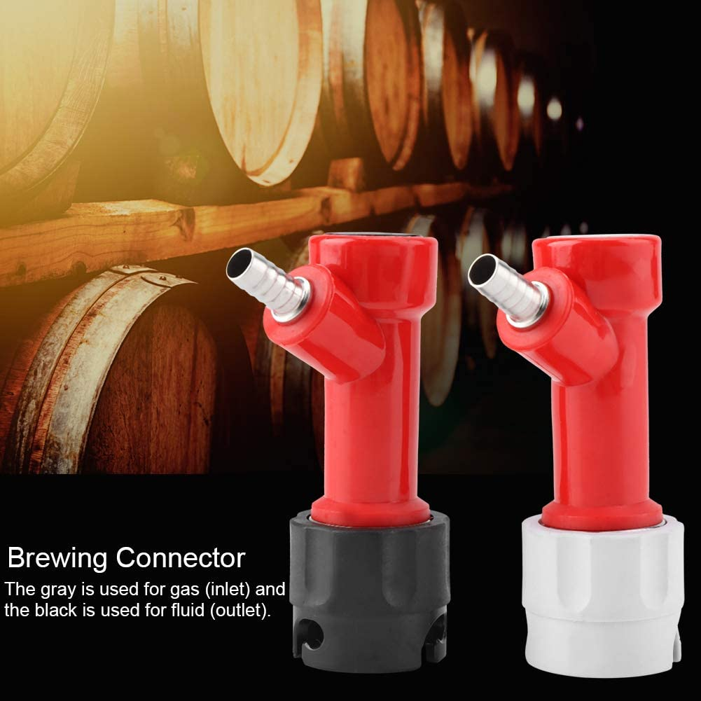 2 PCS 1//4 Tall Pin Lock Corny Keg for Homebrewing Home Brewing Connector Coupler Set Oumij Brewing Connector Keg