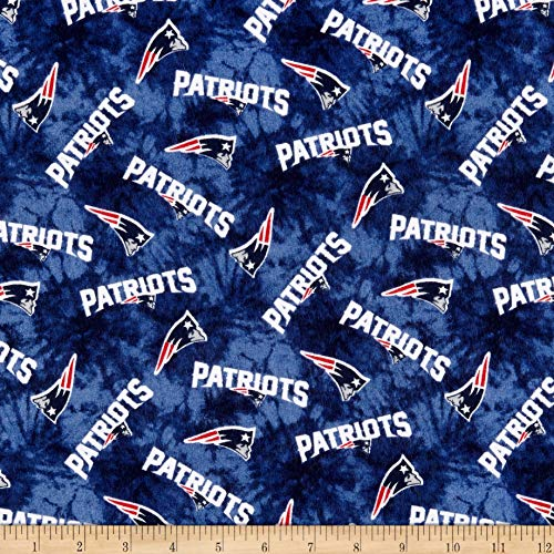 - Traditions NFL Flannel New England Patriots Tie Dye Navy, Fabric by the Yard