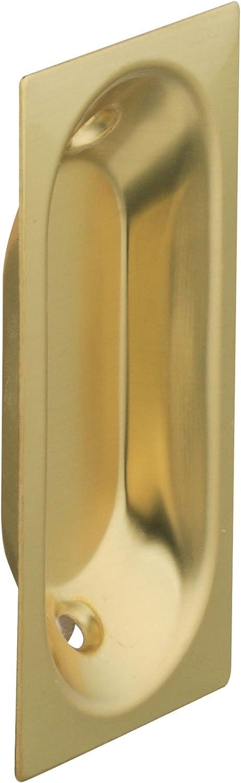 Stanley Hardware S403-516 CD40-3516 Solid Brass Flush Oblong Pull in Bright Brass, 2 pack