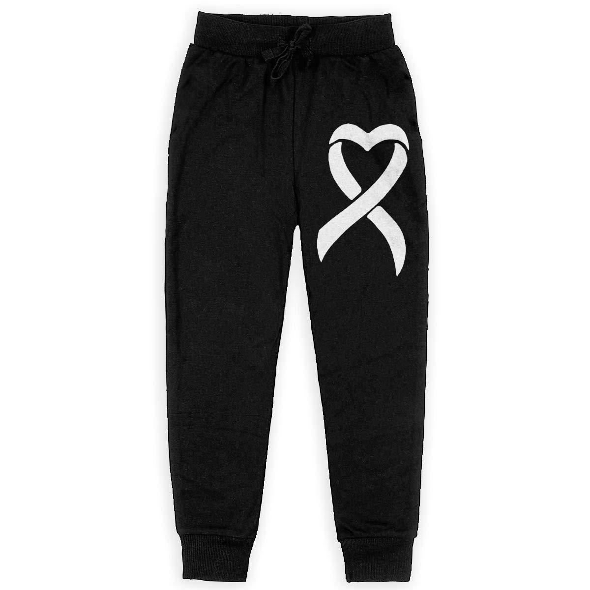 Kly Pants Lung Cancer Ribbon Youth Sweatpants Athletic Sweatpants Jogger Sweatpant