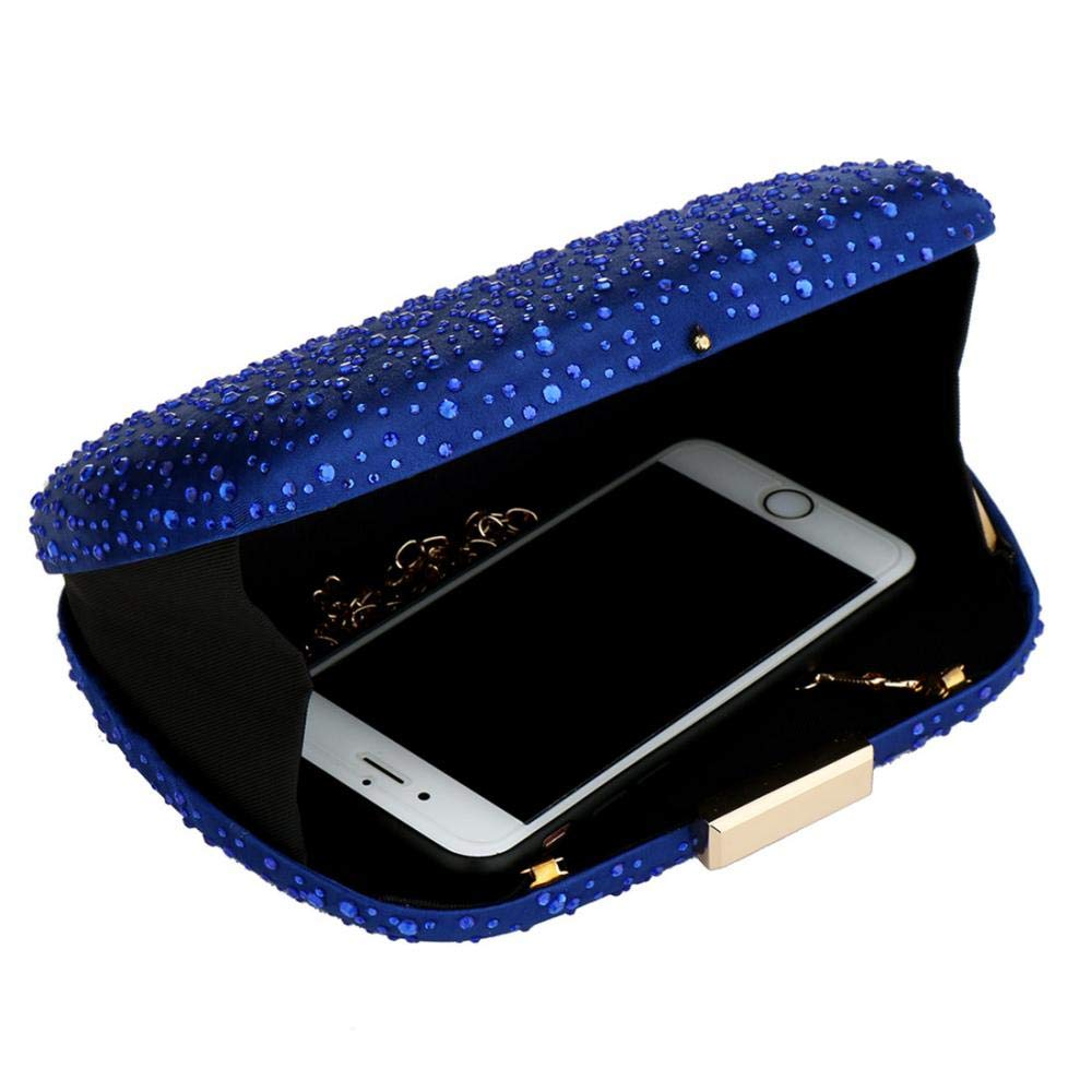 Womens Crystal Beaded Evening Clutch Bag Crossbody Purse for Party Prom Wedding