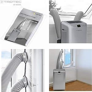 TROTEC AirLock 200 Impermeabilización de ventanas para aires acondicionados móviles Hot Air Stop / Aislamiento para