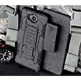 Nokia Lumia 820 Case, Cocomii Robot Armor NEW [Heavy Duty] Premium Belt Clip Holster Kickstand Shockproof Hard Bumper Shell [Military Defender] Full Body Dual Layer Rugged Cover Nokia (Black)