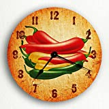 Cheap Southwestern Chili Peppers 12″ Silent Wall Clock