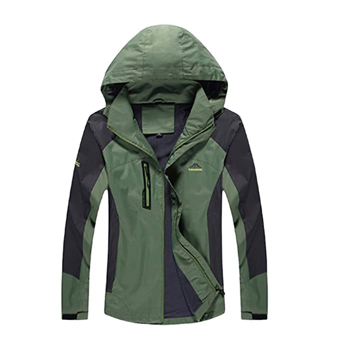 nihiug Chaquetas Impermeables Mujer Alpinismo Impermeable ...