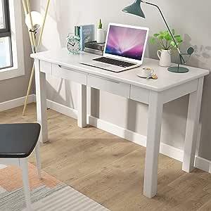 Amazon.com: DERTHWER Kid Desk, Wooden Computer Desk ...