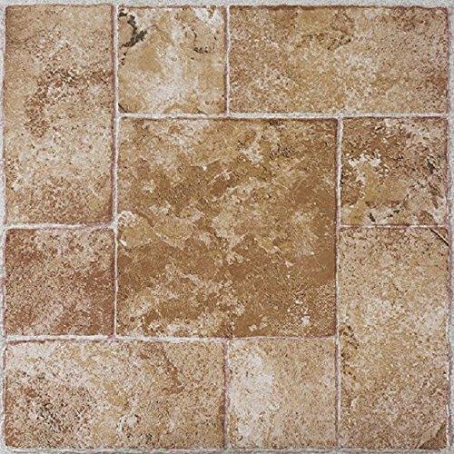 Cotta Laminate Terra Flooring (Achim Imports FTVMA42045 Tivoli Beige Terracotta 12x12 Self Adhesive Vinyl Floor Tile-45 Tiles/45 sq. ft. , Piece)