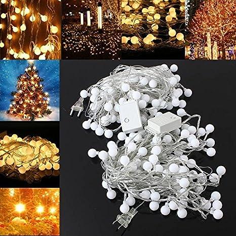 SOLMORE 10m 100 bombillas LED brillantes bola Navidad decoración de la guirnalda para el encaje de