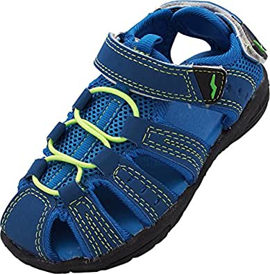 NORTY - Boys & Girls Toddler Little & Big Kid Athletic Outdoor Sport Water Hiking Sandals Blue Size: 4 Big Kid