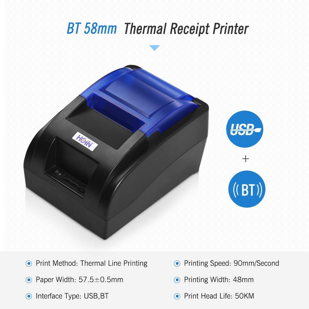 Impresora térmica de Recibos de 58 mm con Interfaz BT y USB ...