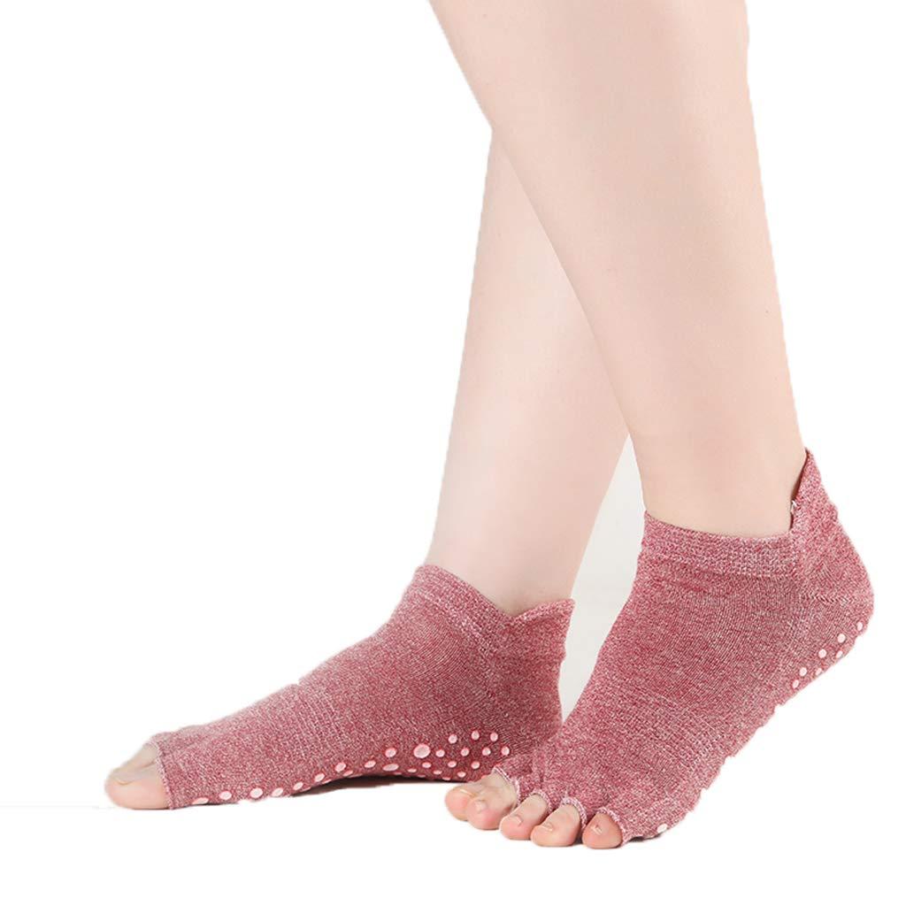 Amazon.com: Happy Time Yoga Socks, Open Toe, Heel Socks ...