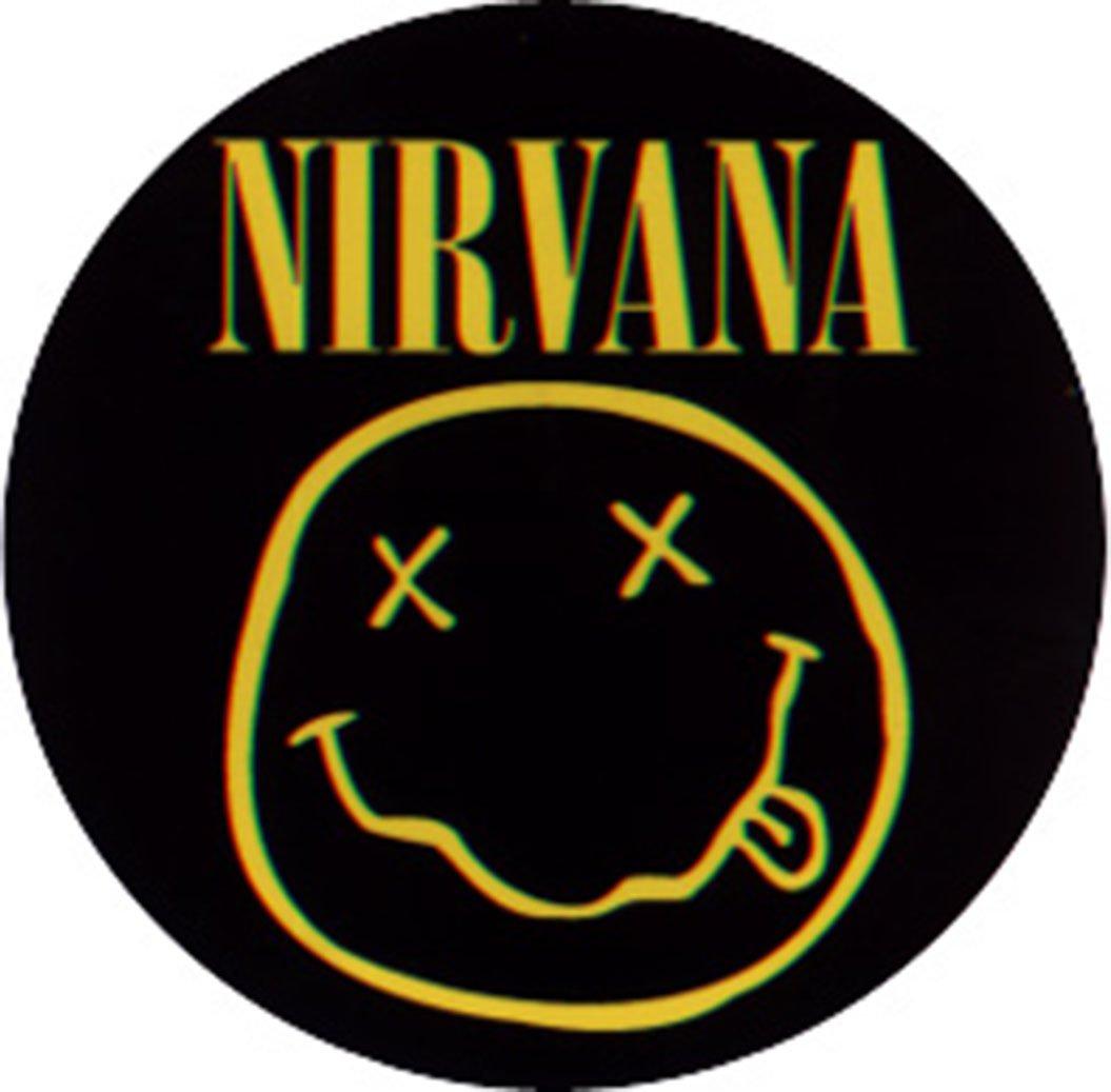 Licenses Products Nirvana Round Smiley Logo Sticker