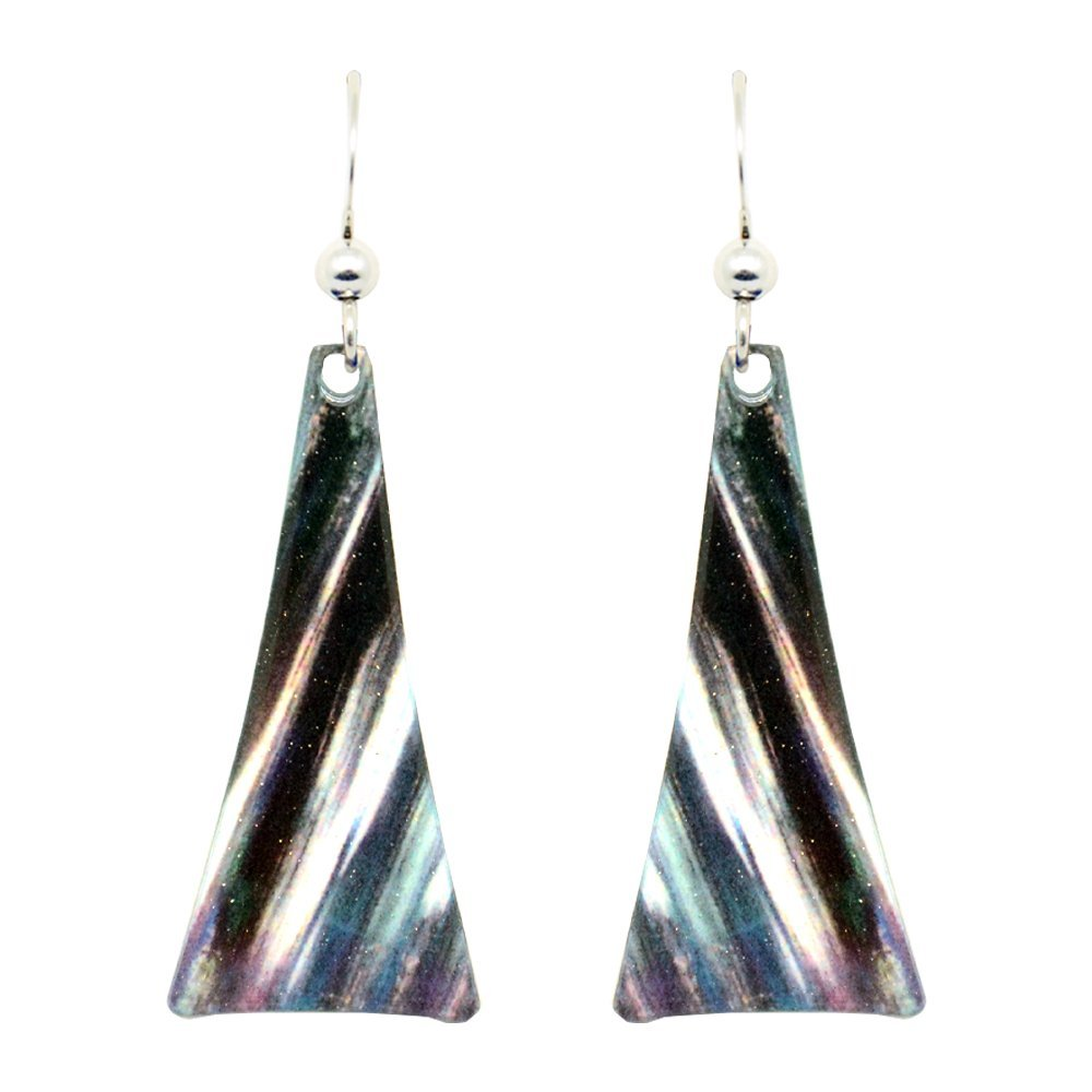 Snowflake Earrings with Stainless Steel Earwire Hooks