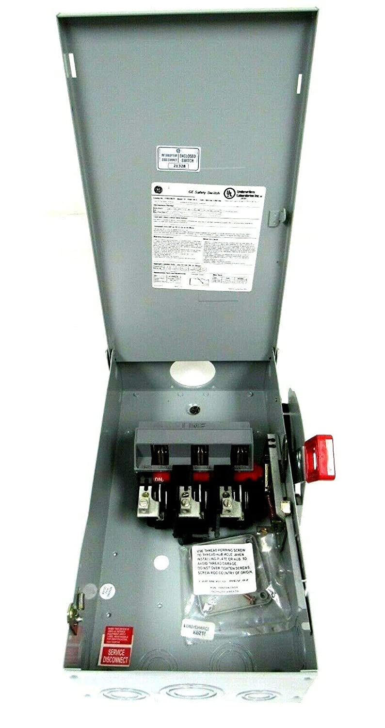 New General Electric THN3362R Safety Switch 60A Model 10 600VAC 250VDC