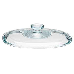Corningware French White 1.5 Quart Deep Oval Glass Lid