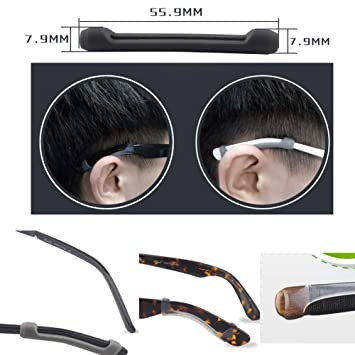 82e394dc29a Silicone Anti-Slip Ear Pads for Eyeglasses 1 Pair  Amazon.co.uk ...