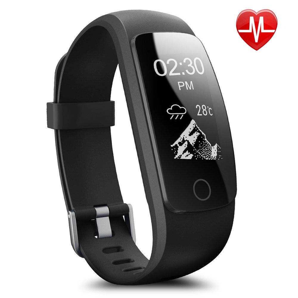 Montre Connectée,Willful SW331 Bracelet Connecté Fitness Tracker d\u0027Activité  Montre Cardio Sport avec  Cardiofréquencemètre,Sommeil,Podomètre,Calories,Mode