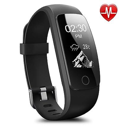 willful sw320 Bluetooth Fitness Rastreador inteligente podómetro pulsera con llamada Texto WhatsApp Push Estimada Cámara Control vibración Despertador ...