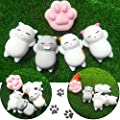 Mochi Squishy, Outee 16 Pcs Animal Squishies Mochi Squeeze Toys Soft Squishy Stress Animal Toys Kawaii Animal Squishy Mini Slow Rising Seal Rabbit Duckling Cat Pig Tiger Squishies, Random Color by Outee