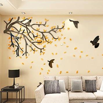 Amazon.com: 3d tree wall stickers,Removable acrylic mirror wall ...