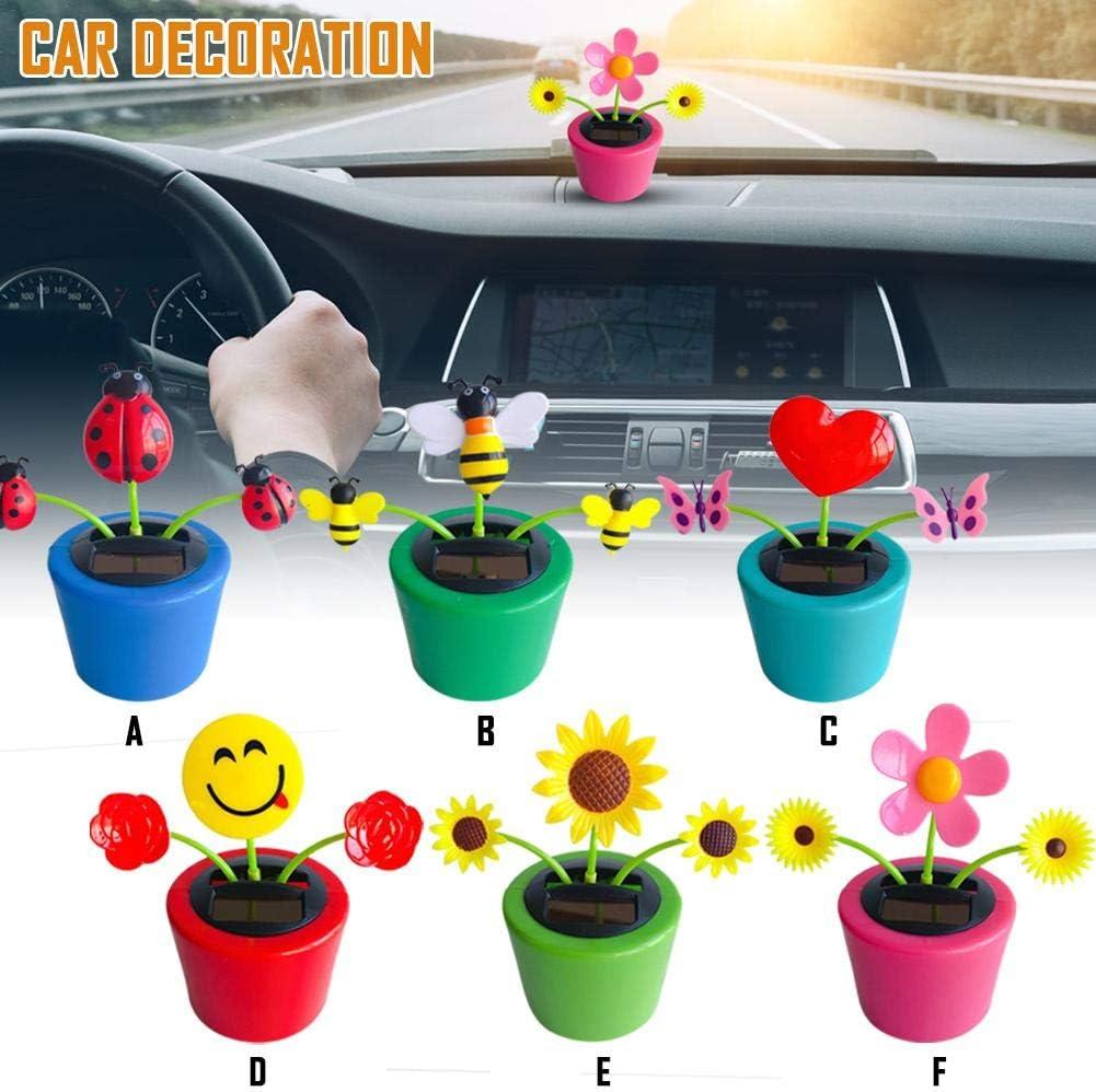 Jouet solaire pour danse avec fleur Bureau et d/écoration de voiture B-biene
