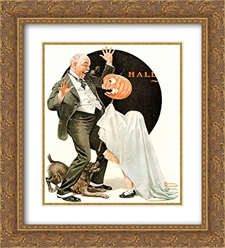 (Norman Rockwell 2x Matted 20x22 Gold Ornate Framed Art Print)