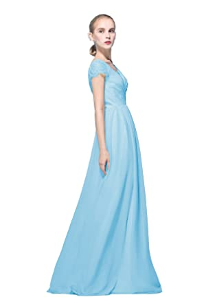 Cap Sleeves Lace Boho Bridesmaid Dresses Rustic Wedding Maid of ...