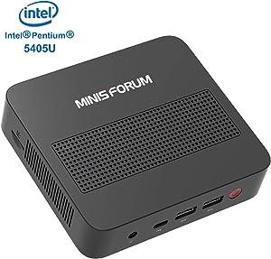 Mini PC Expandable RAM 8GB DDR4 128GB SSD Intel Pentium Gold 5405U Processor (2.30 GHz) Windows 10 Desktop Computer with 4K@60Hz HDMI/Mini DP/USB-C Output,4 xUSB Ports,Mounting Bracket