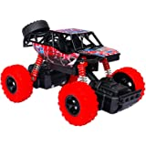 Think Wing 4WD Pull Back Monster Trucks with Music & Light High Speed Die-cast Buggy Functions Toy Cars 4 Styles Collectable Off-Road Car Gift For Kids 1:32 Scale (Style 1(Red))
