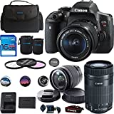 Canon EOS Rebel T6i DSLR Camera with EF-S 18-55mm f/3.5-5.6 IS STM Lens + EF-S 55-250mm f/4-5.6 IS STM Lens - Deal-Expo Bundle
