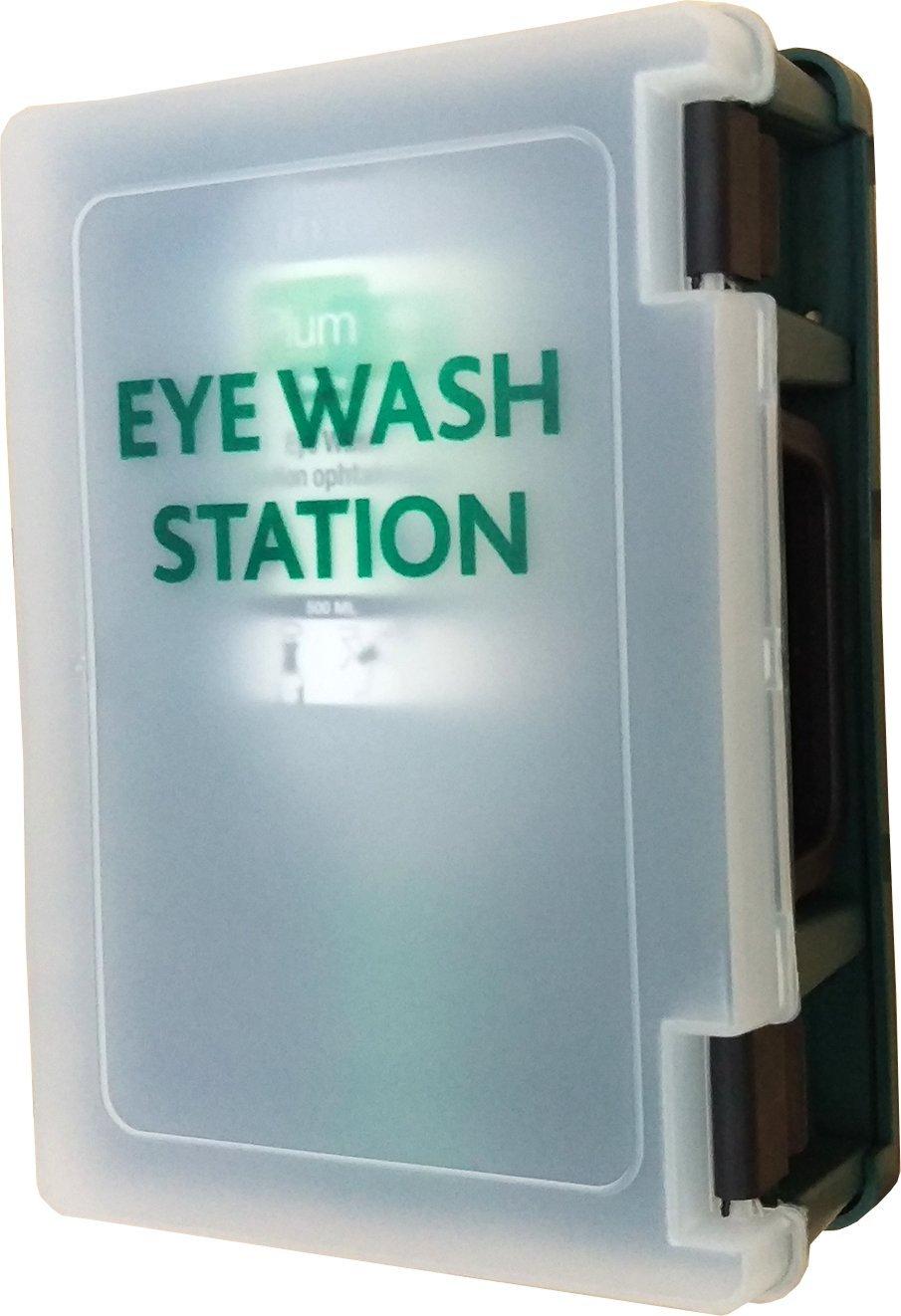 Plum 46506 Single Eyewash Station, 10.5'' Height, 3.75'' Wide, 8.75'' Length, 16.9 fl. oz, Plastic by Plum