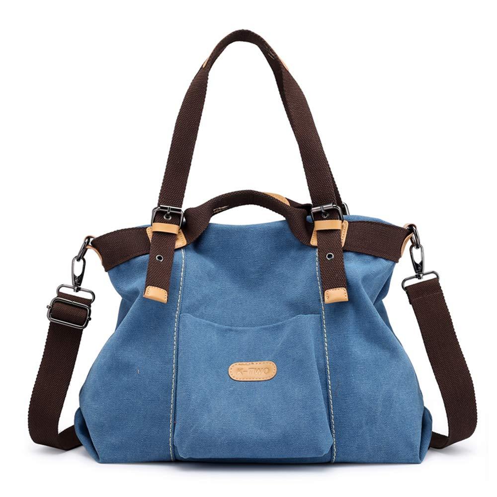 DGKDFEFT Damen Tasche Frauen Casual Canvas Top-Griff Tasche Umhängetasche B07K5D2PLT Umhngetaschen Ausgezeichnete Funktion