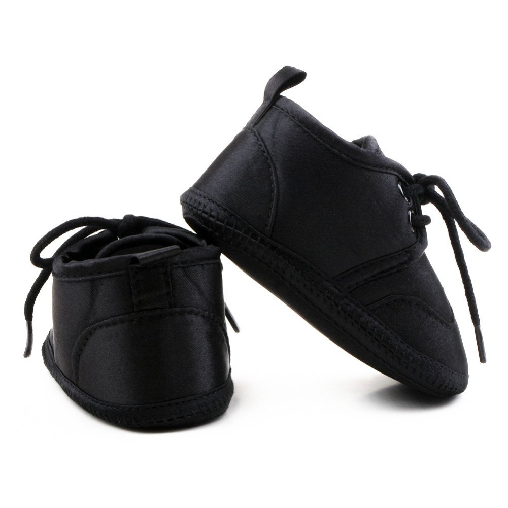 OOSAKU Baby Boy Girls Shoes Infant Lace up Soft Sole Stain Slippers