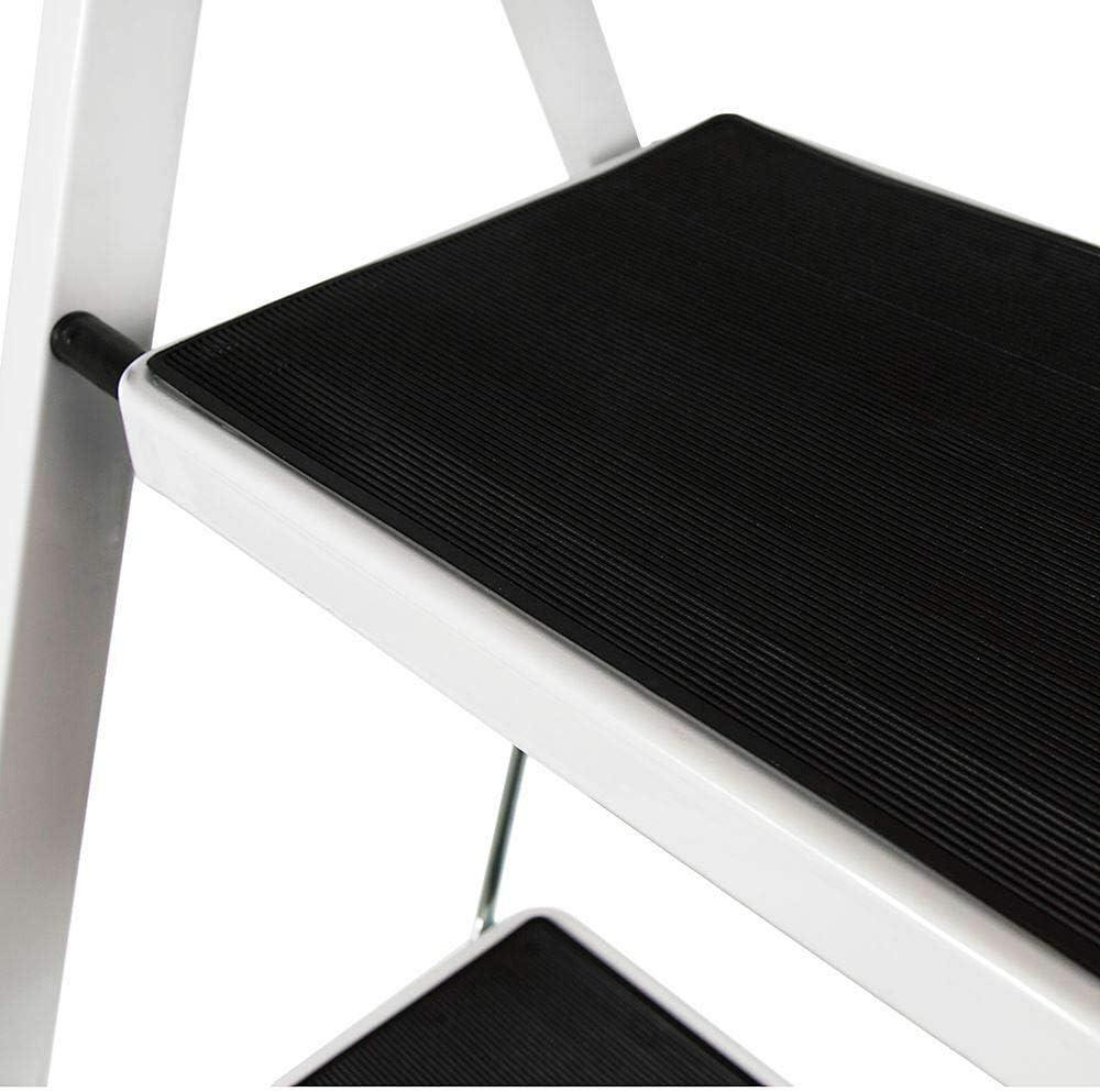 4 Stufen Klappleiter Trittleiter Klappbar Tragbare kompakte Leiter Rutschfeste Matte Einfache Aufbewahrung Stehleiter f/ür Home Kitchen Office DIY 150 kg max Belastung