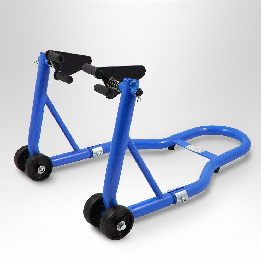 BITUXX® Motorradständer Vorn Motorrad Montageständer Vorderrad Transportständer Blau Aufnahme 21 - 26 cm + für fast alle Motorräder geeignet MS-Point