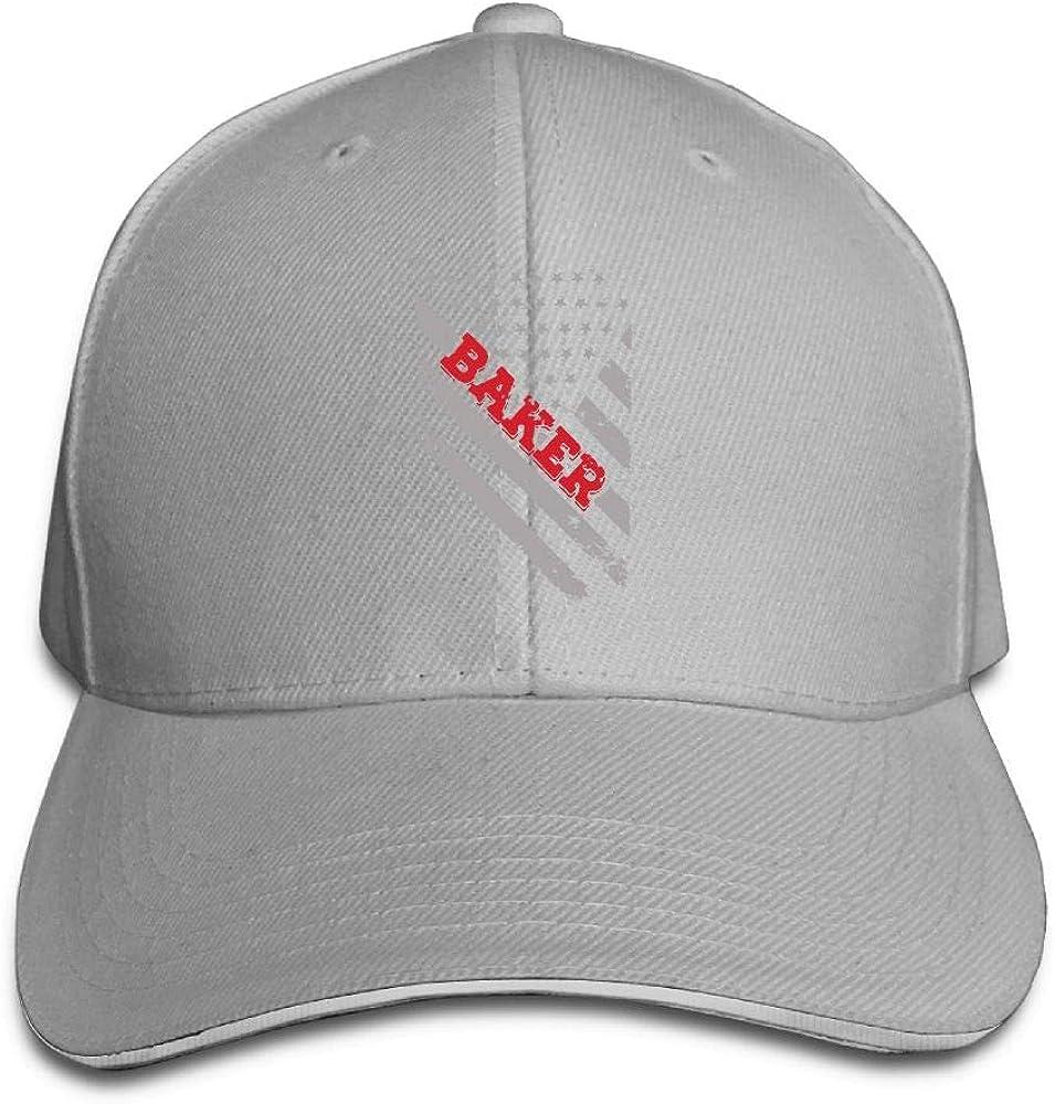 Baker Flag Snapback Sandwich Cap Adjustable Baseball Hat Street Rapper Hat