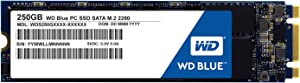WD Blue 250GB PC SSD - SATA 6 Gb/s M.2 2280 Solid State Drive - WDS250G1B0B [Old Version]