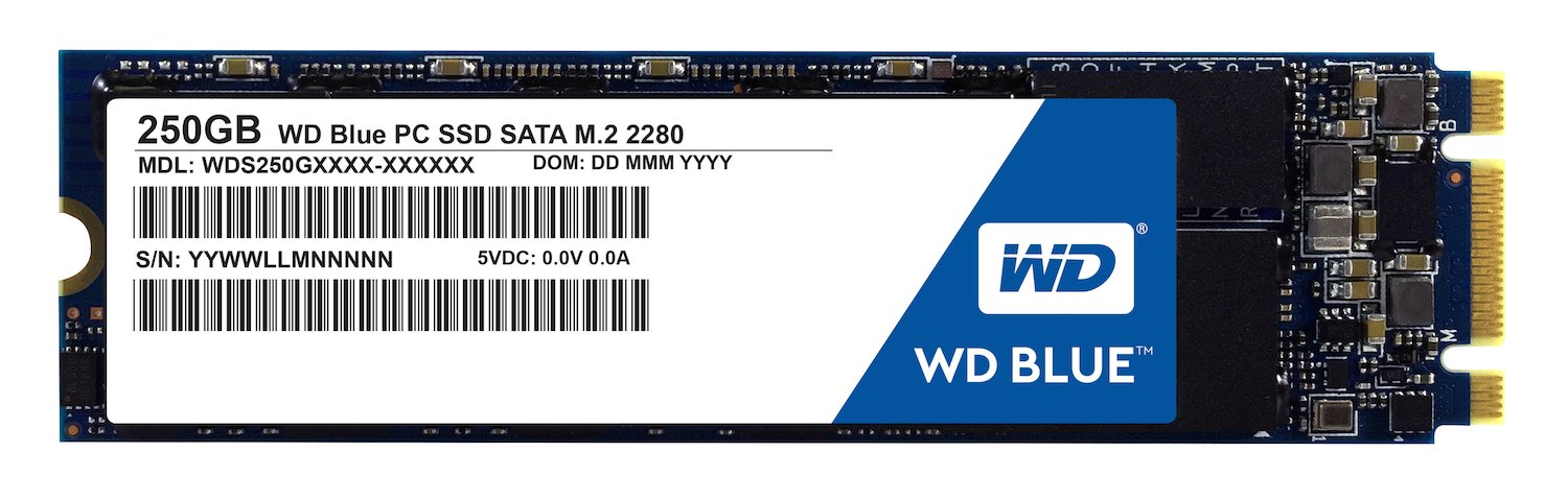 SSD : WD Blue 250GB PC SSD - SATA 6 Gb/s M.2 2280 Solid...