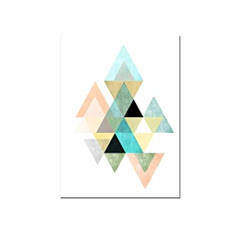 Affiche à Motif Géométrique Oevre De Style Scandinave