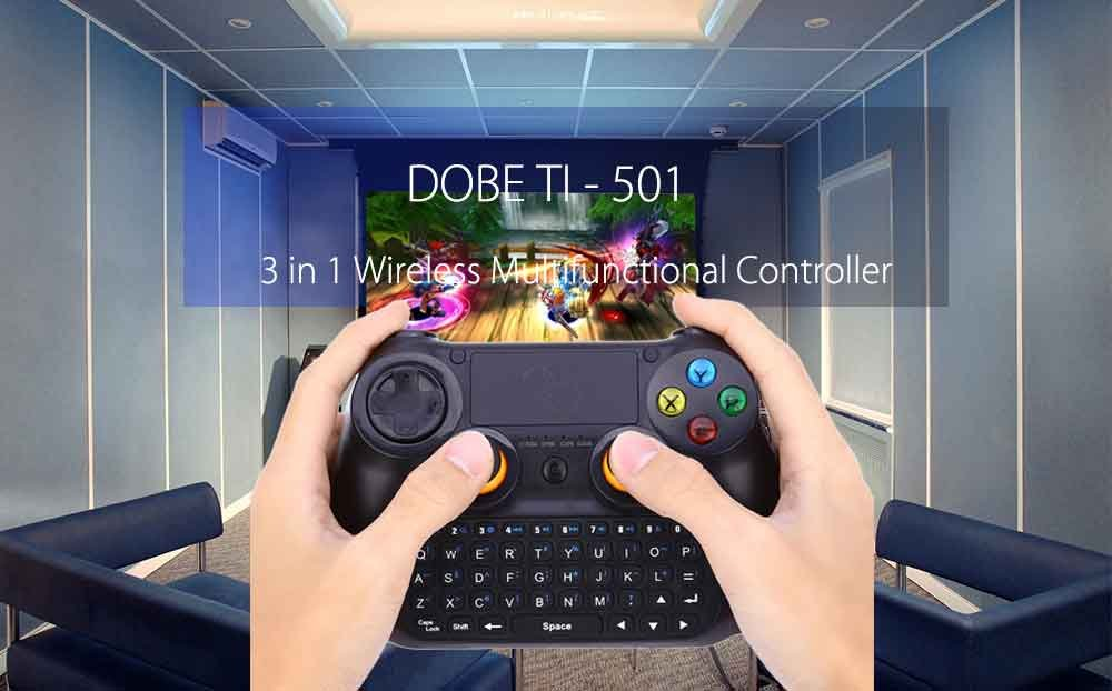 Amazon.com: DOBE TI - 501 3 in 1 Multifunctional Controller Wireless Keyboard Keypad Mouse TouchPad for Android Smart TV / Pad / PC: Computers & Accessories