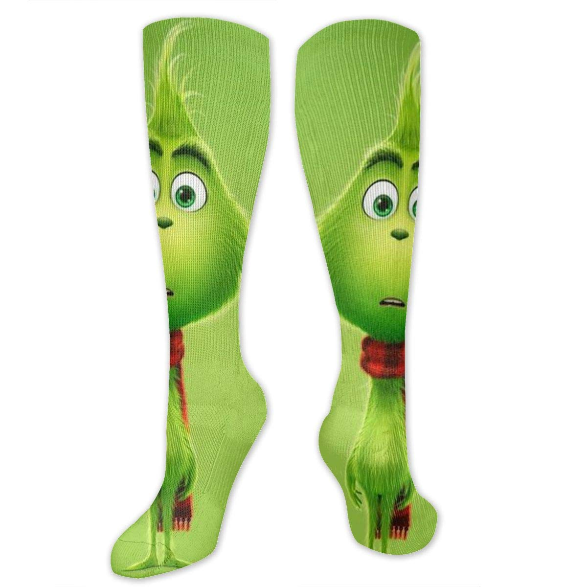 SARA NELL Knee High Socks The Curious Grinch Knee High Compression Stockings Athletic Socks Personalized Gift Socks for Men Women Teens Girls