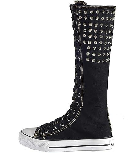 Veribuy Punk Style Knee High Sneaker