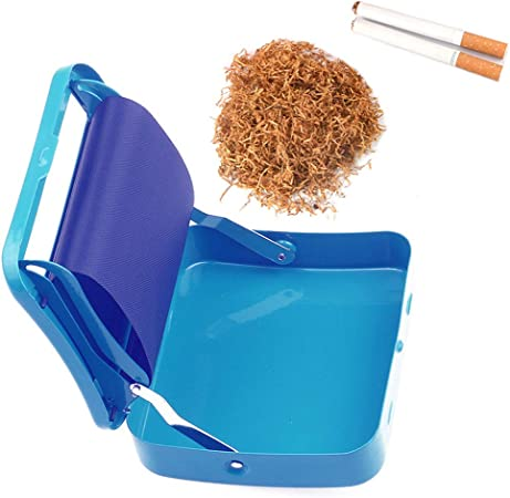FIRUKI Maquina Liar Tabaco, Rollo Máquina De La Caja DIY del Balanceo Caja De La Máquina De Metal De Cigarrillos Bellamente Portátil Manual Azul Blue: Amazon.es: Hogar