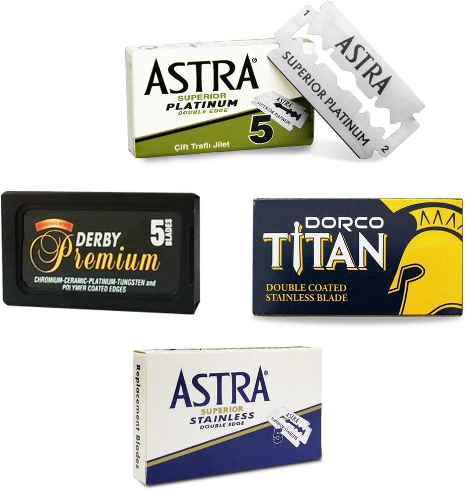 The Goodfellas' Smile - Titan/Premium Astra - Cuchillas de afeitar, 25unidades