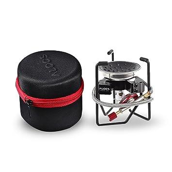 Lixada Estufa de Gas Plegable Exterior Ligero Portátil Cocina Camping Mochilero Viajar: Amazon.es: Deportes y aire libre