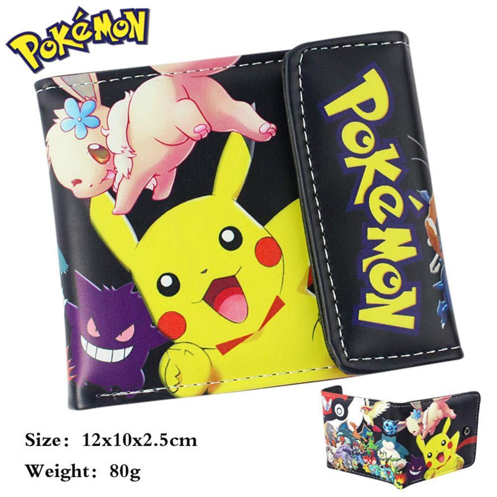 Paquete de Tarjeta Monedero Unisex Anime SWVV Hombre y Mujer Pokémon Monedero A A: Amazon.es: Equipaje