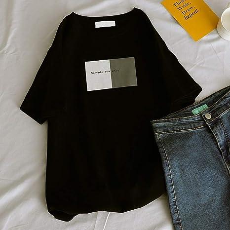 DAIDAINDX La Camiseta De Manga Corta De Las Mujeres Marea Femenina De La Camisa del Cuerpo Salvaje Suelto del Verano: Amazon.es: Deportes y aire libre