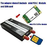 WWAN/ LTEモジュール用Mini PCI-E to USB アダプタ SIMカードスロットつき